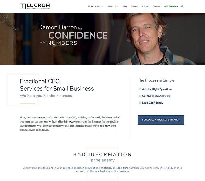 Lucrum Consulting Website