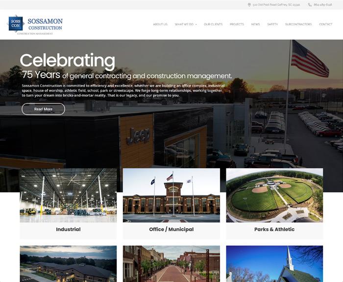 Sossamon Construction Website